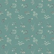 Lewis & Irene The Hedgerow - 5557  - Hedgerow Floral  Teal - A252.2 - Cotton Fabric